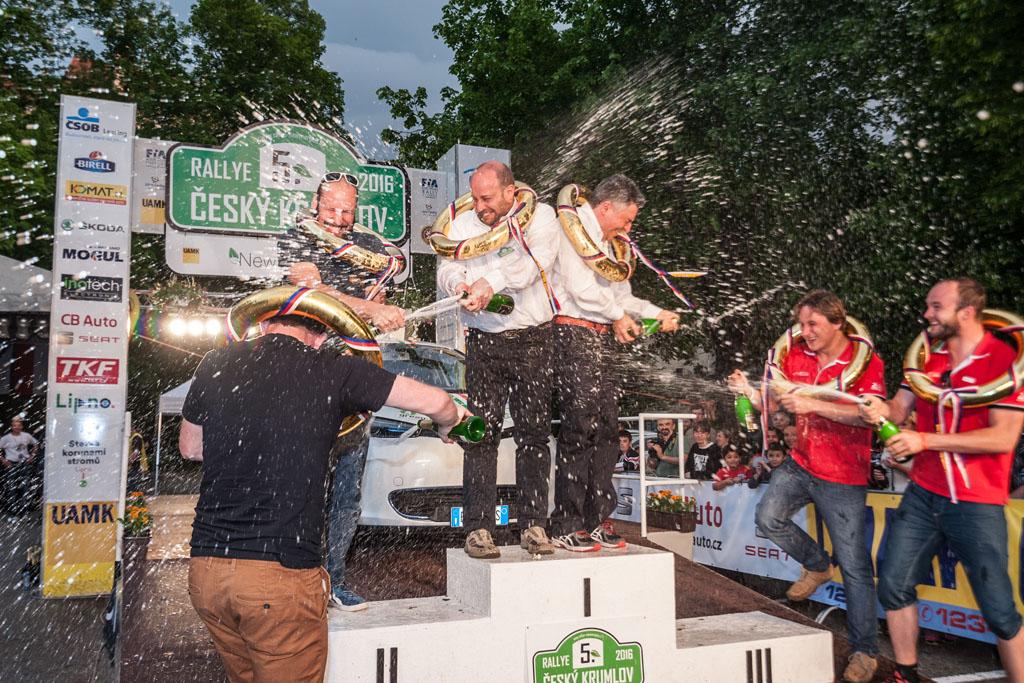 Tři nejlepší posádky letošní New Energies Rallye Český Krumlov